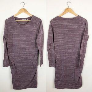 Athleta Ruched Sweater Dress